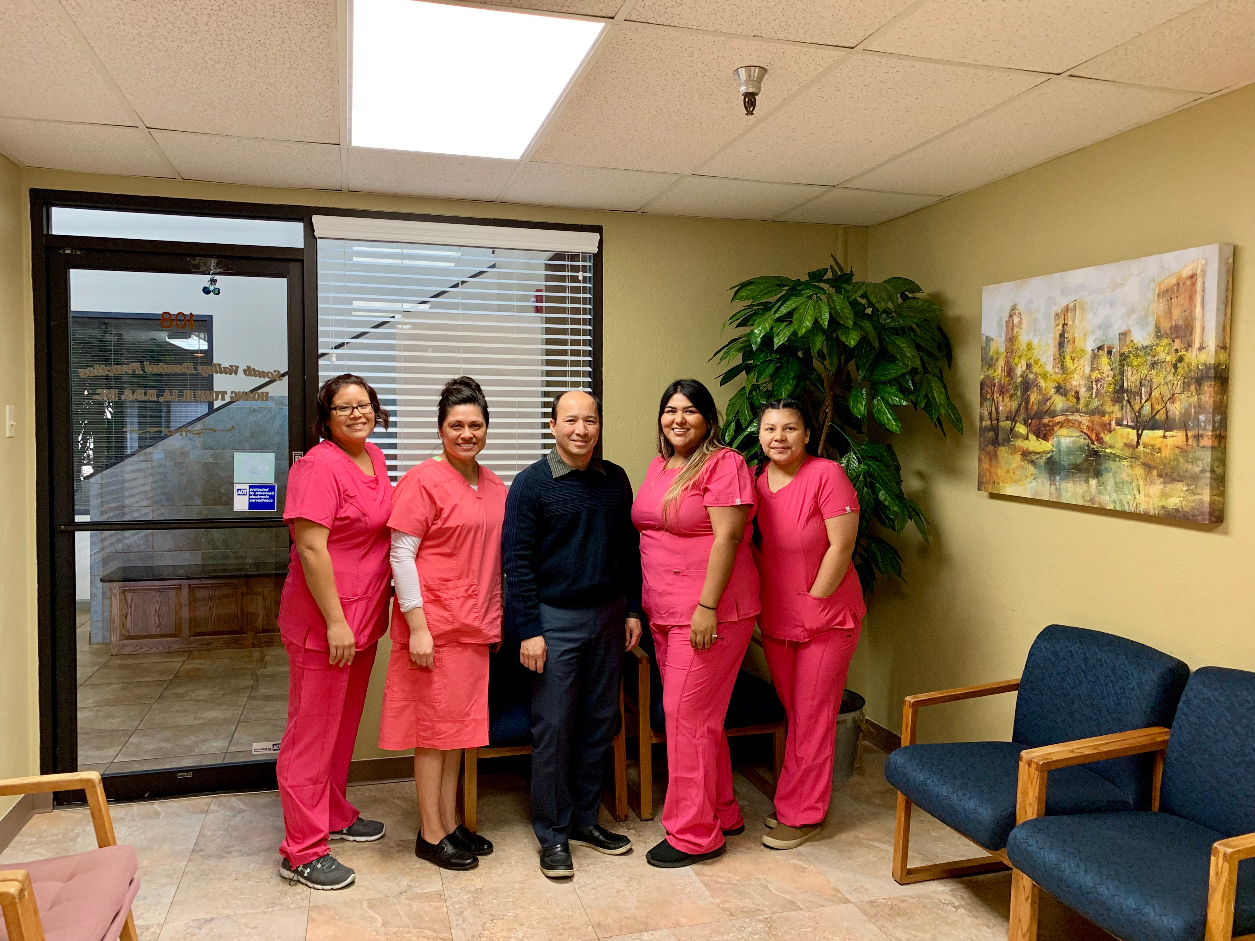 Staff with Dr. Hoang